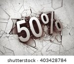 drop price by 50 percent on... | Shutterstock . vector #403428784