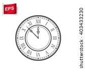 vintage clock icon  vector time ...