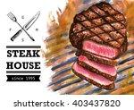 steak rib eye grille fire... | Shutterstock . vector #403437820