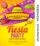 poster or party flyer of cinco... | Shutterstock .eps vector #403440856
