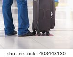 luggage at the airport terminal. | Shutterstock . vector #403443130