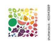 vector illustration   fruits... | Shutterstock .eps vector #403443889
