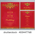 wedding invitation or card with ... | Shutterstock .eps vector #403447768