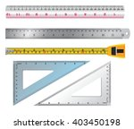 Set Of Ruler And Tab Vector