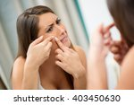 young woman has problems with... | Shutterstock . vector #403450630