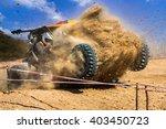 dust splashed in off road...   Shutterstock . vector #403450723