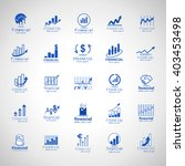 financial icons set isolated on ... | Shutterstock .eps vector #403453498