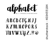 hand drawn vector alphabet.... | Shutterstock .eps vector #403455184