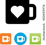 coffee cup with heart icon | Shutterstock .eps vector #403455976