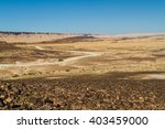 the ramon crater or makhtesh... | Shutterstock . vector #403459000