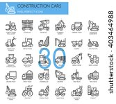construction cars    thin line... | Shutterstock .eps vector #403464988