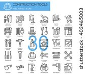 Construction Tools   , Thin Line and Pixel Perfect Icons - stock vector