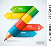 abstract infographic pencil... | Shutterstock .eps vector #403472668