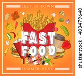 fast food vector illustration | Shutterstock .eps vector #403479640