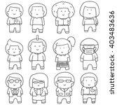 vector set of people | Shutterstock .eps vector #403483636