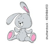 soft toy plush rabbit | Shutterstock .eps vector #403486453