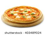 Margherita Pizza  Isolated On...