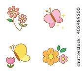 spring vector icons   Shutterstock .eps vector #403489300