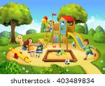 Park  Playground Vector...
