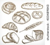 bread sketches  hand drawing ... | Shutterstock .eps vector #403489843