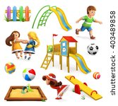 playground  vector icon set | Shutterstock .eps vector #403489858