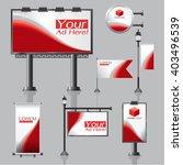 vector outdoor advertising... | Shutterstock .eps vector #403496539