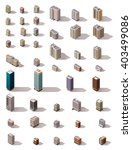 vector isometric icon set or... | Shutterstock .eps vector #403499086
