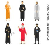isolated religion ministers.... | Shutterstock .eps vector #403507000