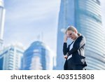 Stressed Business Woman In The...