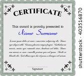 certificate template eps10 jpg... | Shutterstock .eps vector #403516870