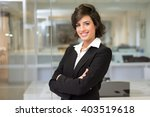 portrait of a business woman in ... | Shutterstock . vector #403519618