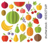 fruits flat icons set. creative ... | Shutterstock .eps vector #403527169