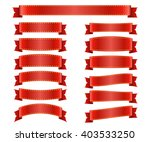 red ribbons set. satin blank... | Shutterstock .eps vector #403533250