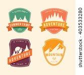 vintage badge nature set | Shutterstock .eps vector #403533280