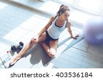 relaxing after training. top... | Shutterstock . vector #403536184