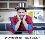 funny cooking. attractive...   Shutterstock . vector #403538374