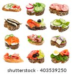 set of small sandwiches... | Shutterstock . vector #403539250