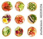 set of various bruschettas... | Shutterstock . vector #403539256