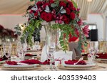 table setting at a luxury... | Shutterstock . vector #403539403