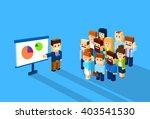 business man show graph... | Shutterstock .eps vector #403541530
