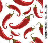red hot chili peppers seamless... | Shutterstock .eps vector #403553383
