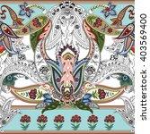 seamless paisley vector pattern ... | Shutterstock .eps vector #403569400