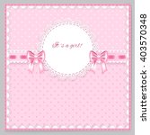 pink greeting card with two...   Shutterstock .eps vector #403570348