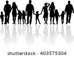 family silhouettes. vector work. | Shutterstock .eps vector #403575304