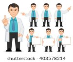doctor  scientist  teacher. set ... | Shutterstock .eps vector #403578214
