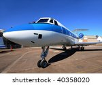 luxury private jet parked on... | Shutterstock . vector #40358020