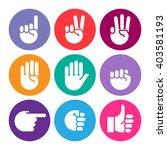 hand gestures. set of color... | Shutterstock .eps vector #403581193