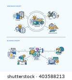 web design  blogging icons... | Shutterstock .eps vector #403588213