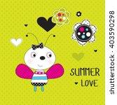 Cute Ladybug On Polka Dots...
