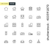 vector house line icons   Shutterstock .eps vector #403591870